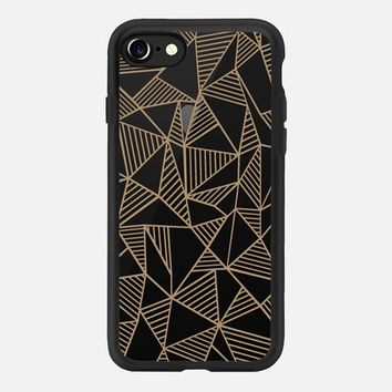Abstract Lines Brown Transparent iPhone 7 Case by Project M | Casetify