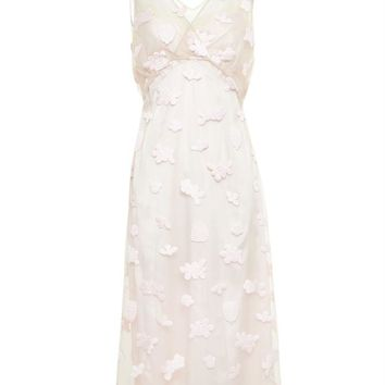 Floral Embroidered Tie Dress - SIMONE ROCHA