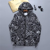 Dior CD New Fashion Letter Print Top Zipper Hoodie Personalized Jacket