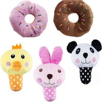 5pcs Cute Squeaky Dog Toys for Small Dogs