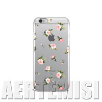Phone Cases Blush Pink Roses Floral Thin Transparent Clear Soft TPU Case Cover for Apple iPhone 4 4s 5 5s 5c 6 6s 7 Plus SE