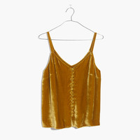 Velvet Button-Down Cami