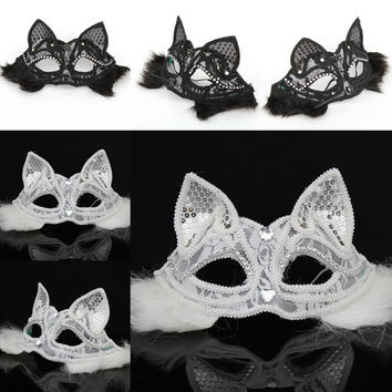 Halloween Lace Christmas Face Mask [6676329223]