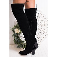 Kaylin Thigh High Boots (Black)