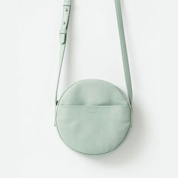 BAGGU Leather Circle Purse Sea Glass