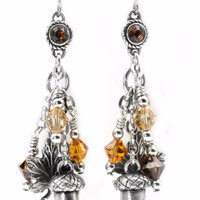Falling Leaves, Autumn Earrings