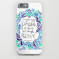 Anything's Possible – Silver & Blue iPhone & iPod Case by Cat Coquillette