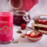 Strawberry Candles | Strawberry Bliss Candle | Diamond Candles™
