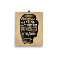 Everyone Has A Plan Until They Get Punched In The Face Parchment Print