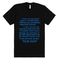 Law and Order SVU-Unisex Black T-Shirt