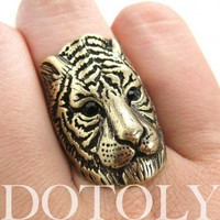 Tiger Cat Animal Ring in Bronze - Sizes 6 and 7 available