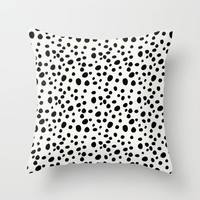 Dalmatian Print Pillow - Decorative Pillows - Velveteen Pillow Cover - Black and White Pillow - Gift for Her - Gifts for Girls - Gift Ideas