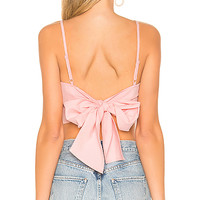 superdown Morgon Tie Back Crop Top in Pink | REVOLVE