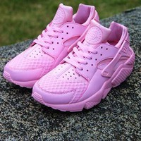 Sale Nike Air Huarache 1 Rainbow Ultra Breathe Women Pink Running Sport Casual Shoes Sneakers - 01