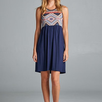Spring Stroll Dress - Navy - Ships Tuesday 3/14