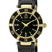 Women's Anne Klein Round Ceramic Bracelet Watch, 31mm - Black