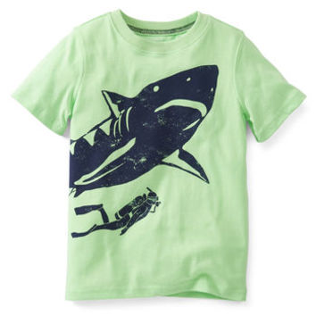 Shark and Diver Tee