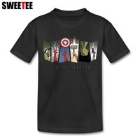 Avengers T Shirt Girl Short Sleeve 4T-8T 100% Cotton T-Shirt Children Designer Tee Tops Clothes For Boys Girls