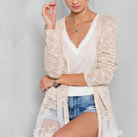 Sweet & Sassy Lace Trim Cardigan