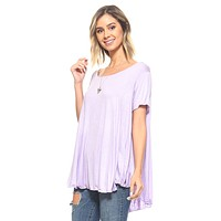 Lavender Flowy Tunic - Plus Too
