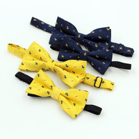 2016 NEW Best Selling Cartoon Bow tie For Men Kid Fashion Lovely Dog Pattern Wedding Party Yellow blue Bowtie Children Cravat