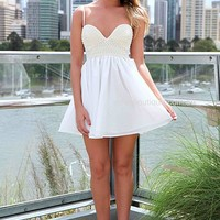 PEARL BUST DRESS , DRESSES, TOPS, BOTTOMS, JACKETS & JUMPERS, ACCESSORIES, 50% OFF , PRE ORDER, NEW ARRIVALS, PLAYSUIT, COLOUR, GIFT VOUCHER,,White,Print,Sequin,SLEEVELESS,MINI Australia, Queensland, Brisbane