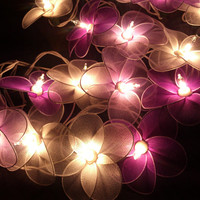 Pink and White Flower String Lights