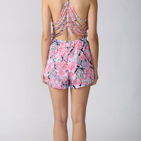 Sakura Playsuit in Pink