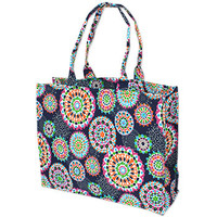 Monogrammed Bettie-Go-Round Canvas Tote