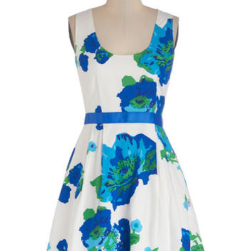 BB Dakota Mid-length Tank top (2 thick straps) Fit & Flare Bright Over Here Dress