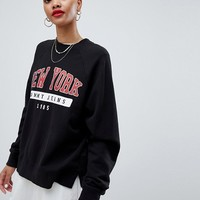Tommy Jeans Sweatshirt With New York Logo at asos.com