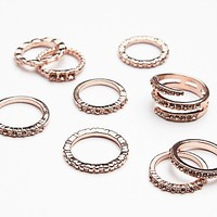 Free People Womens Traveling Storm Stacking Rings