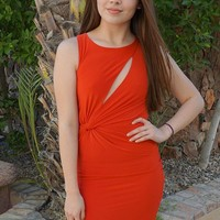Girl In The Mirror Glam Red Cutout Bodycon Dress
