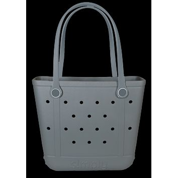 Simply Southern Small Grey Beach Waterproof Washable Tote Bag