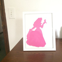 Sleeping Beauty Silhouette Picture Frame