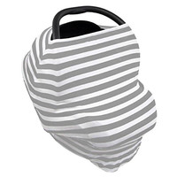 MyM Stretchy Multi-Use Baby Car Seat Cover, Nursing Cover, High Chair Cover, Shopping Cart Cover 4-in-1 Unisex