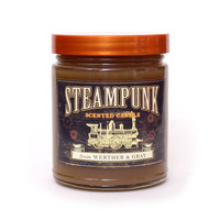 STEAMPUNK Candle, 8oz Soy Blend, Scented Candle, Neo-Victorian Goth Candle, Industrial Decor, Gifts for Cosplay Enthusiasts, Steampunk Gear