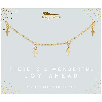 Wonderful Joy Cross Gold Necklace