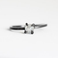 Gray Diamond Rose Cut Ring