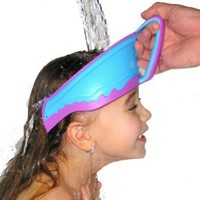 Lil Rinser Splashguard in Blue and Pink: Baby