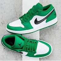 NIKE Air Jordan 1 New fashion hook sports leisure couple shoes Green