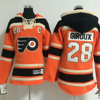 Cheap Stitched Philadelphia Flyers ice hockey hoodie Youth #28 Claude Giroux Jersey Hockey Hoodies Sweatshirts Size:S-XL