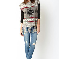 Southwestern Inspired Poncho Top
