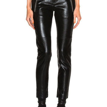 Isabel Marant Arnold Stretch Leather Pants in Black | FWRD