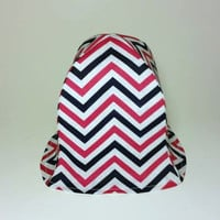 Chevron Girl Hat, Sun Hat for Baby, Pink and Blue Hat, Baby Shower Gift