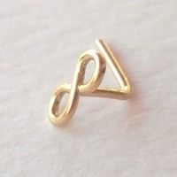 14K Gold Filled Infinity Nose Ring