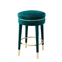 Blue Velvet Counter Stool | Eichholtz Parisian