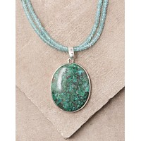 Chrysocolla Double Strand Beaded Necklace