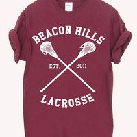 Teen Wolf Beacon Hills lacrosse  Screenprint 100% soft cotton t-shirt For girl and men Unisex