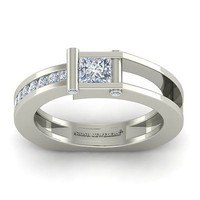 AMAZING 2.25CT WHITE PRINCESS 925 WHITE STERLING SILVER ENGAGEMENT RING FOR HER